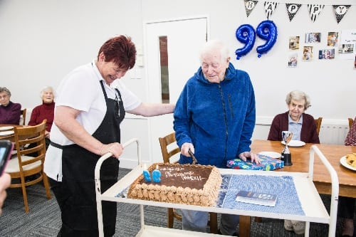 Freeman Court resident celebrates 99th Birthday