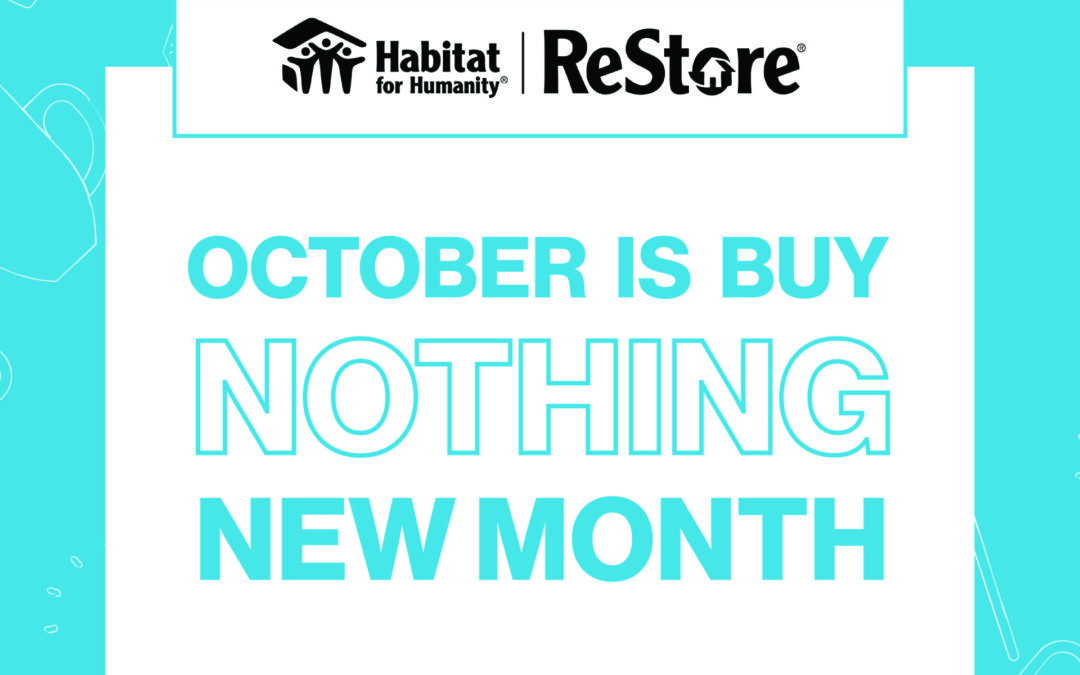 Take the Buy Nothing New Month challenge!